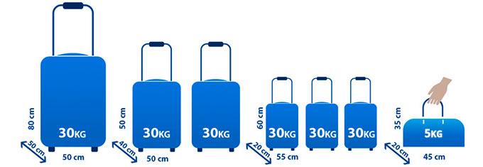 размеры багажа Ecolines