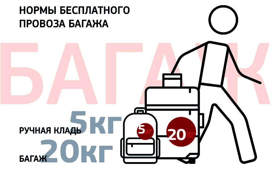 Azur Air багаж нормы