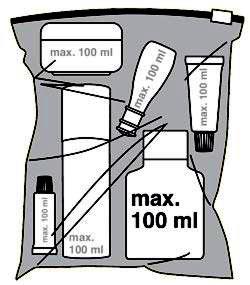 жидкости в ручной клади