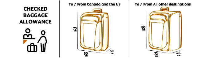 Etihad Airways провоз багажа